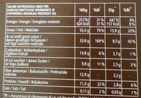 Cioccolato extra fondente 90% - Voedingswaarden