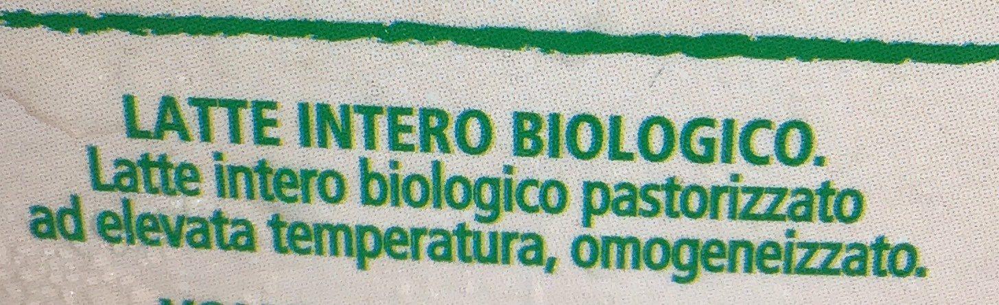 Latte intero biologico - Ingrédients - it