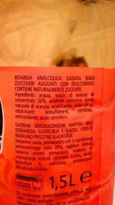 Aranciata zéro - Ingredienti - fr