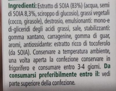 Panna vegetale soia - Ingredients - it