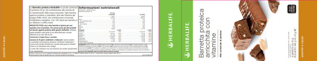 Barre en cas - Informazioni nutrizionali - it