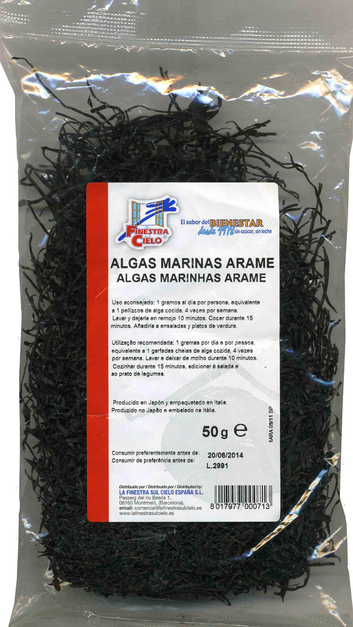 Algas arame deshidratadas - Producto - es