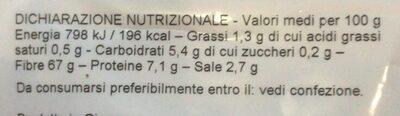 Alghe Marine Arame - Información nutricional - es