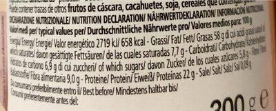Crema di mandorle bianca bio - Beslenme gerçekleri - tr