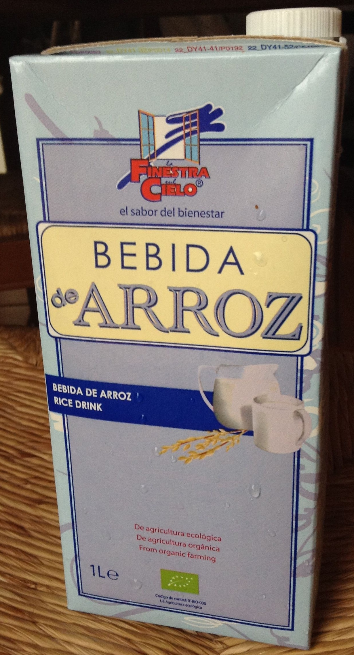 """Bebida de arroz ecológica """"La Finestra sul Cielo"""" - Product"""