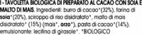 """Tavoletta biologica di cioccolato con soja """"La Finestra sul Cielo"""" - Ingredientes"""