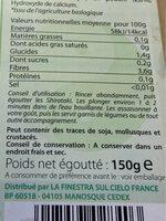 Spaghetti au konjac bio - Informations nutritionnelles