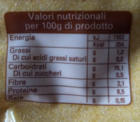 fioretto gialla - Informazioni nutrizionali