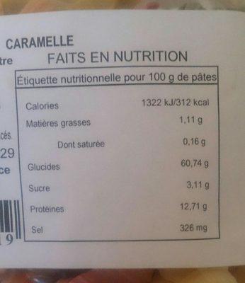 Pietro Castelli Pates 5 Couleurs Caramelle 250 G - Ingrediënten