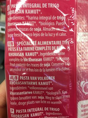 Spaghetti Kamut Complet (500 GR) - Ingrédients