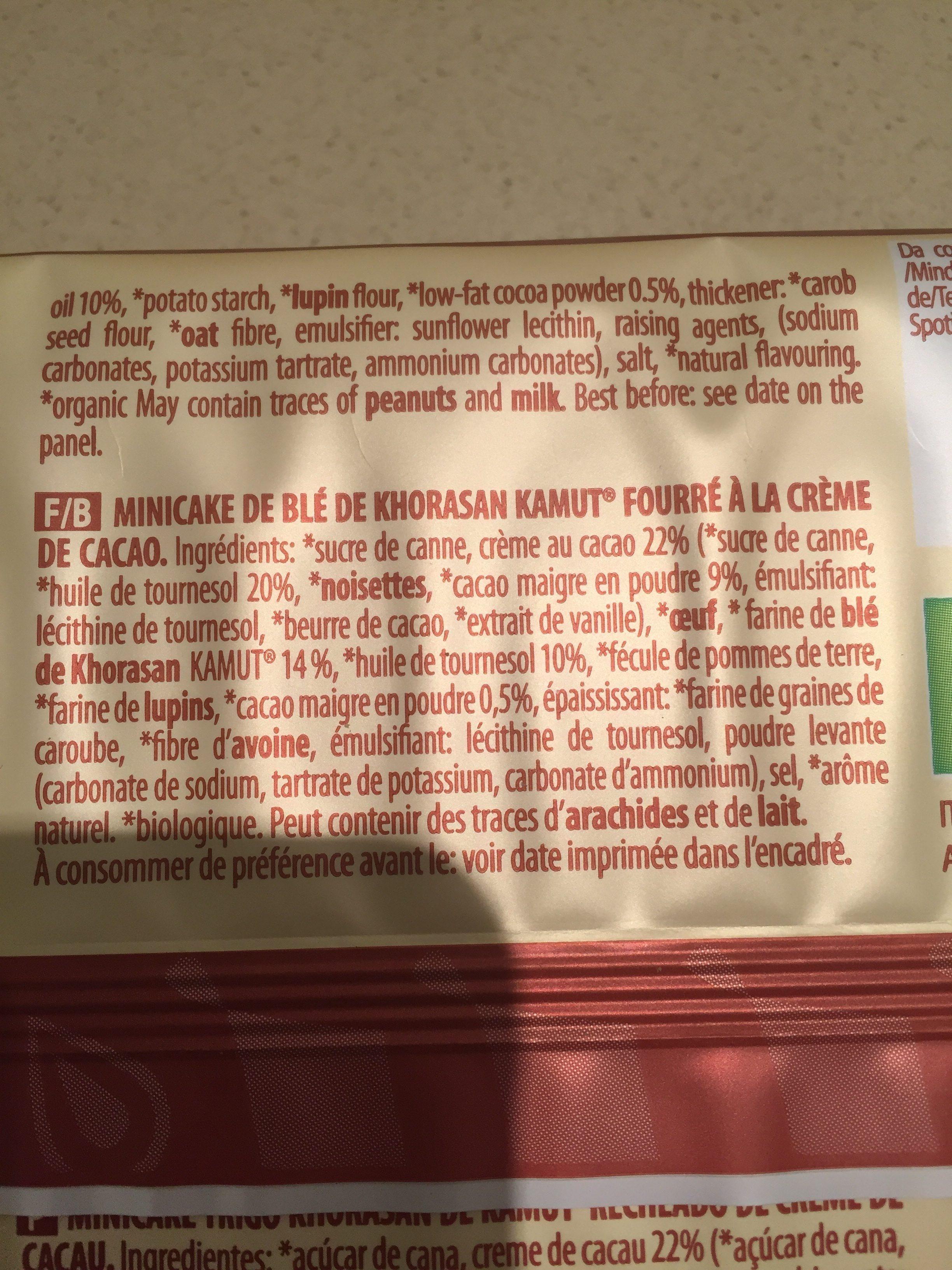 Top Grain Plum Kamut Farcito Al Cacao - Ingredienti - fr