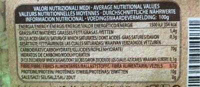 Orzo perlato italiano - Informations nutritionnelles - it