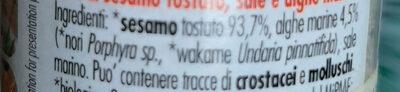 Gomasio alle alghe - Ingredienti - it