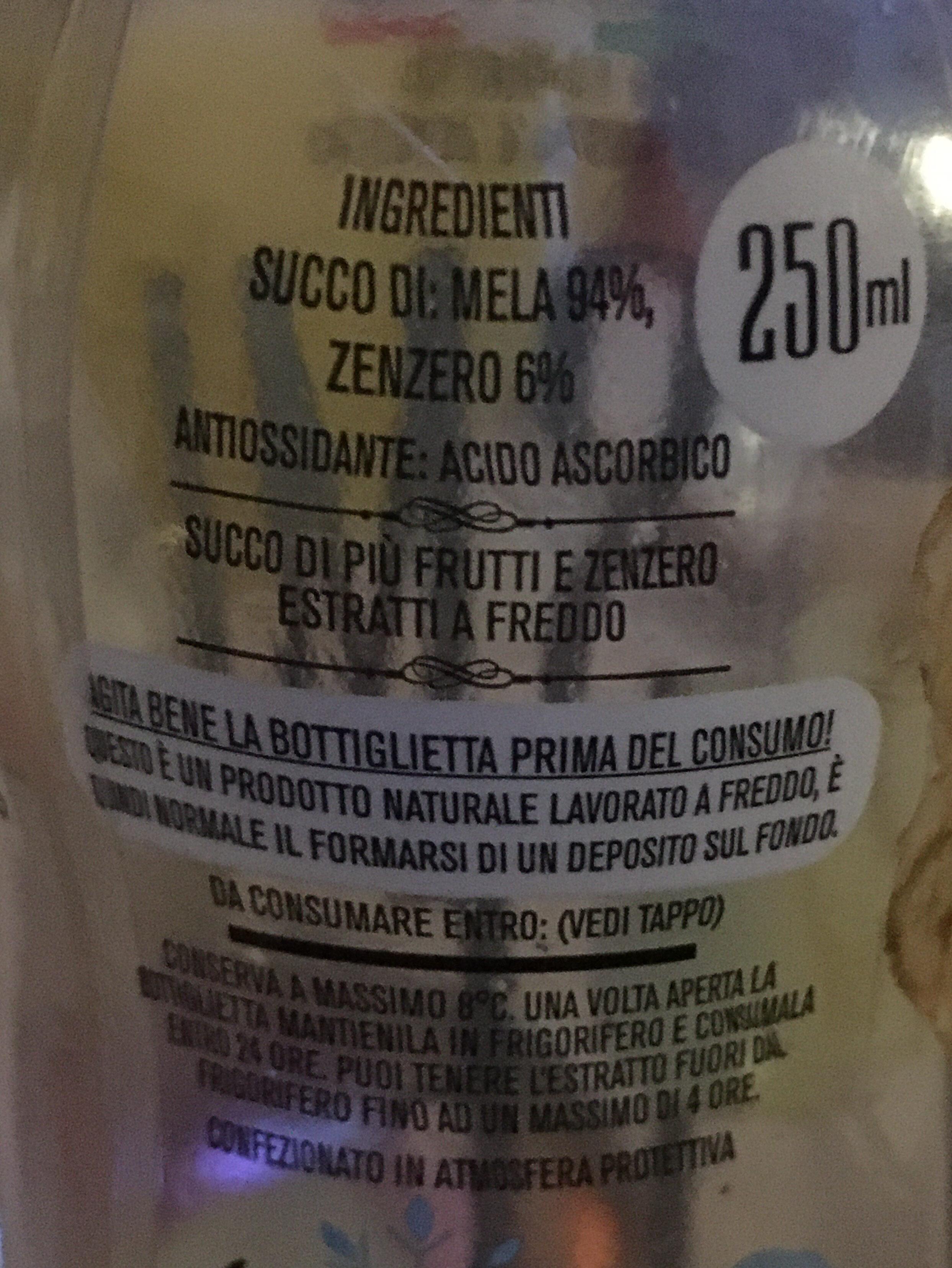 Estratto di frutta e zenzero - Ingredienti - it
