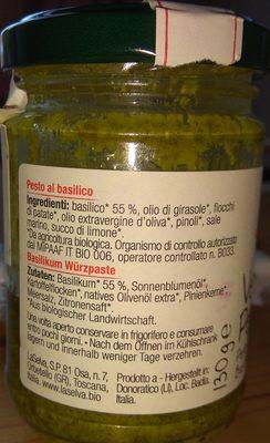 Verde pesto - LaSelva - Ingredients