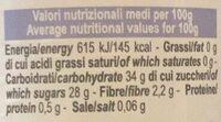frutta spalmabile - Nutrition facts - it