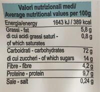 Biscotti del lagaccio di farro bio - Valori nutrizionali - it