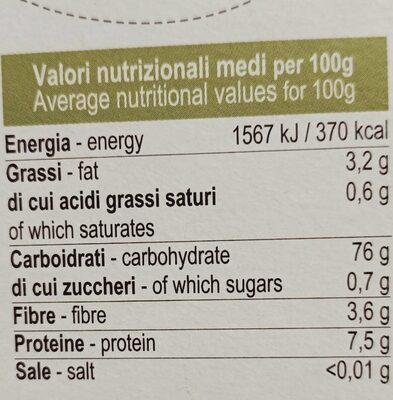 Riso basmati integrale - Valori nutrizionali - it