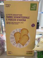 Fette biscottate farri semintegrale e fiocchi d'avena - Prodotto - it