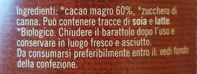 Cio-co Quick - Ingredients