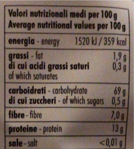 Farro soffiato - Informations nutritionnelles - it
