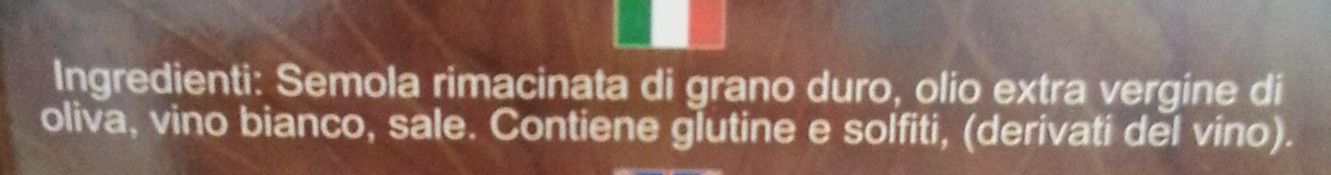 Il grano d'oro di Puglia Tarallini Classici all'olio Extra Vergine di Oliva - Ingredienti