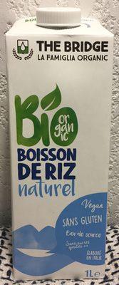 Boisson biologique à base de riz - Produit