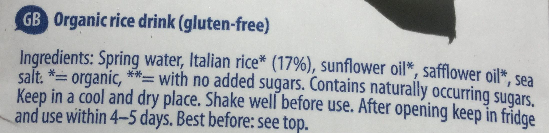 Boisson de riz - Ingredients - en