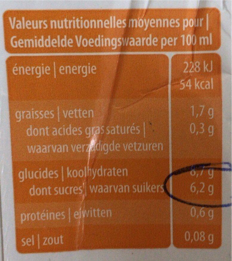 Boisson avoine naturel - Informations nutritionnelles - fr