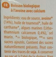 Avena+ Calcium - Ingrédients