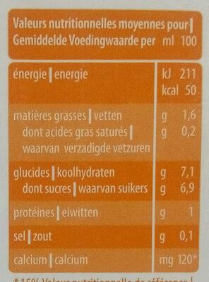 Avena+ Calcium - Informations nutritionnelles