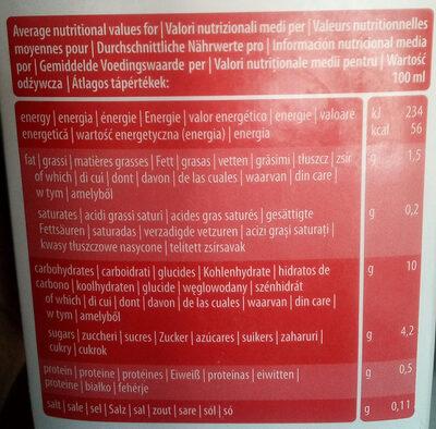 Boisson Végétale épeautre Bio & Sans Gluten - Informations nutritionnelles - fr