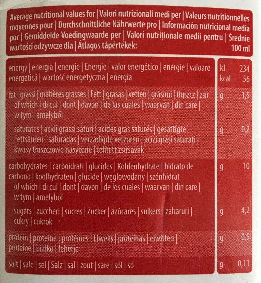 Bio Spelt Drink - Nutrition facts - fr