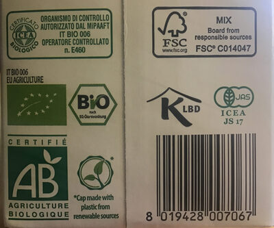 Bio Spelt Drink - Recycling instructions and/or packaging information - fr