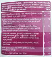 Bio Grano Saraceno e Riso Drink - Valori nutrizionali - en