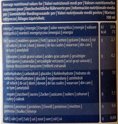 Bio drink Rice + noisettes - Voedingswaarden