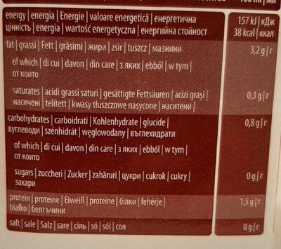 Pure almond drink - Хранителна информация - en