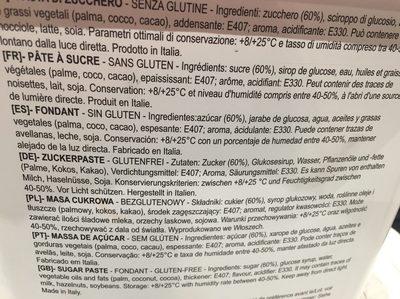 Pâte à sucre - Ingredients