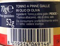 Tonno All olio di oliva - Ingredients