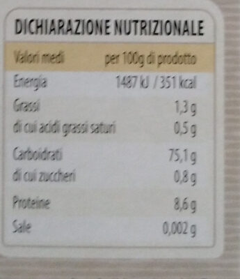 riso ribe parboiled - Nutrition facts - it