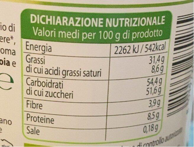 Crema di cacao e nocciole - Informations nutritionnelles - it