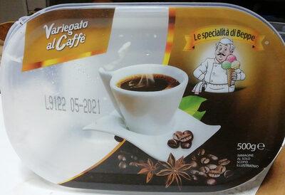 Gelato al gusto di panna con variegatura al caffè e chicchi di cioccolato al caffè - Produit - it