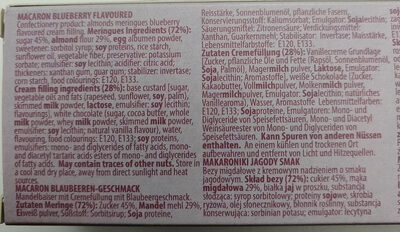 Macaron Blaubeeren-Geschmack - Ingrédients - de