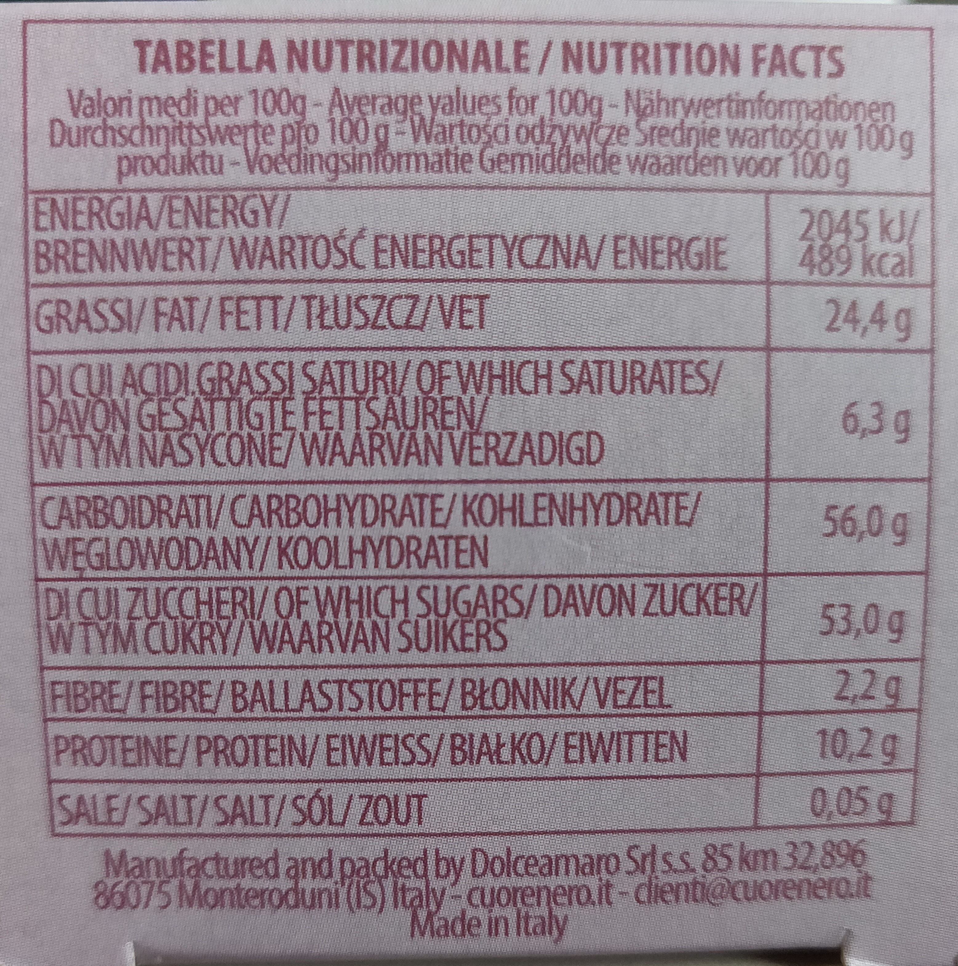 Macaron Blaubeeren-Geschmack - Informations nutritionnelles - de