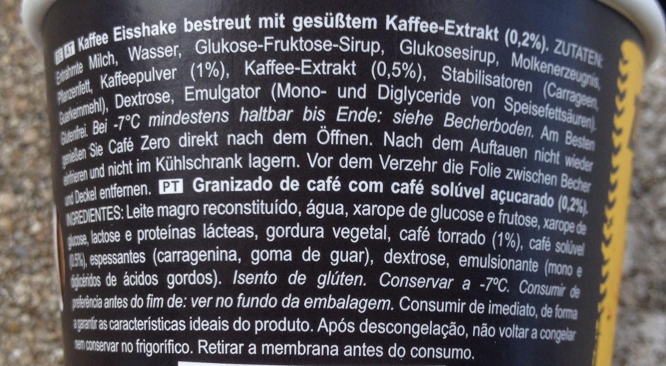 Café Zero° Espresso - Ingredients
