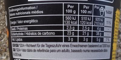 Café Zero° Espresso - Nutrition facts