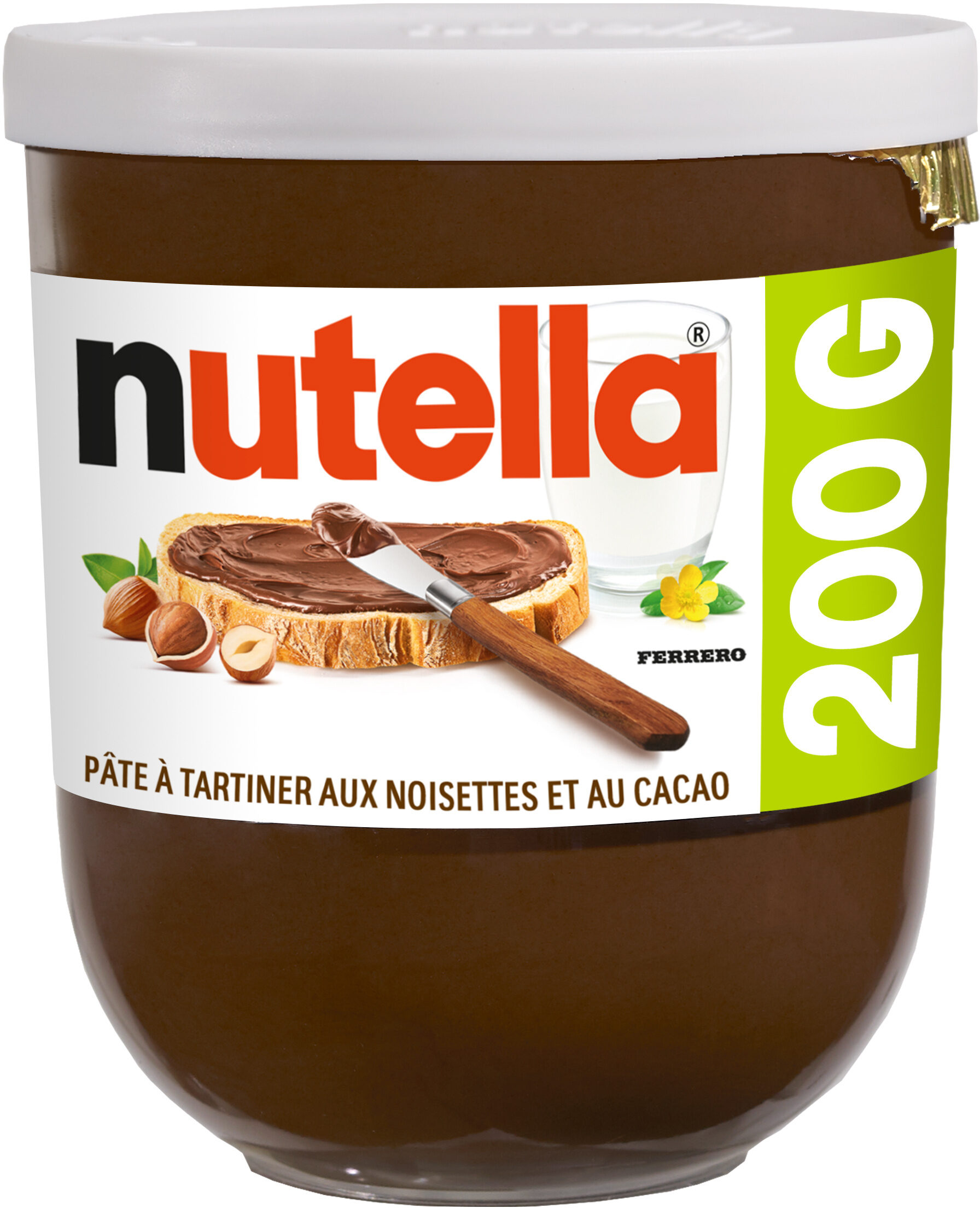 Nutella pate a tartiner noisettes-cacao t200 pot de - Producto - fr