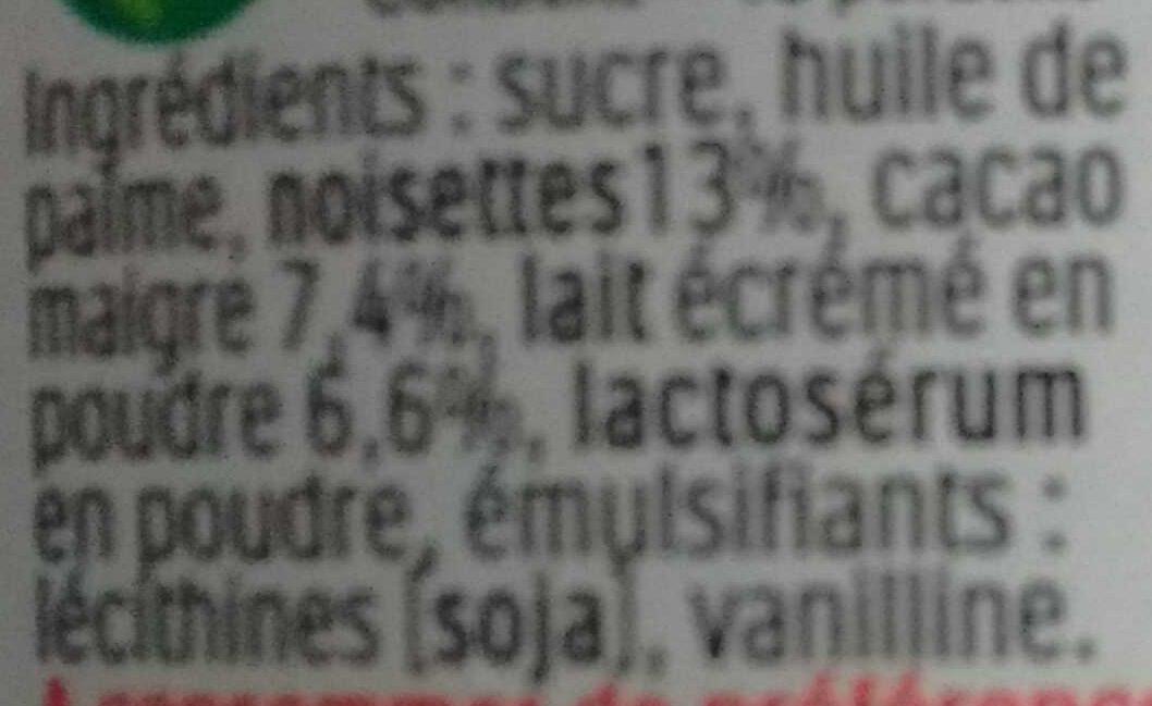 Nutella - Ingrédients