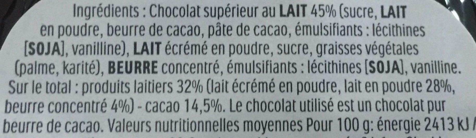 Kinder moulage - Ingredienti - fr