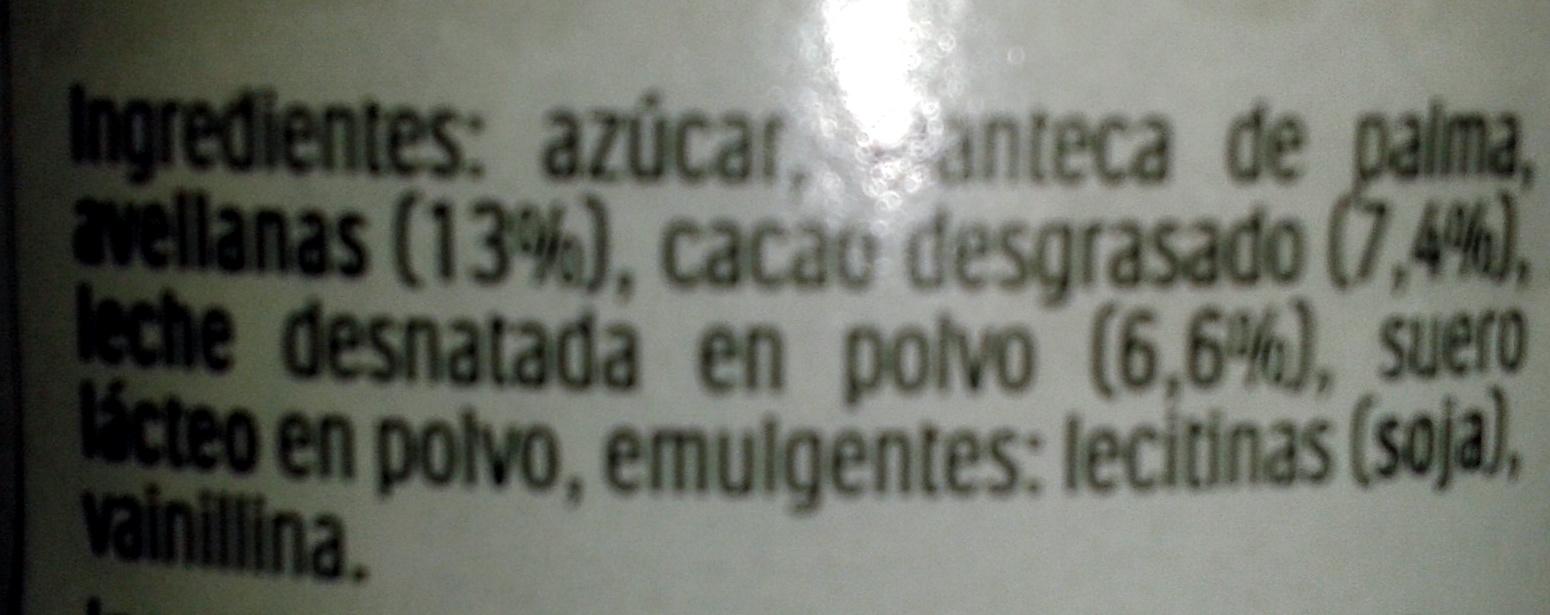 Nutella - المكونات